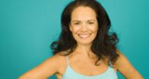 happy woman undergoing hormone replacement